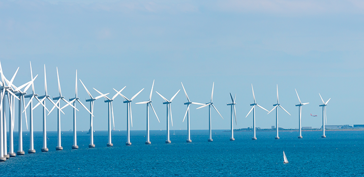 photo of offshore wind turbines