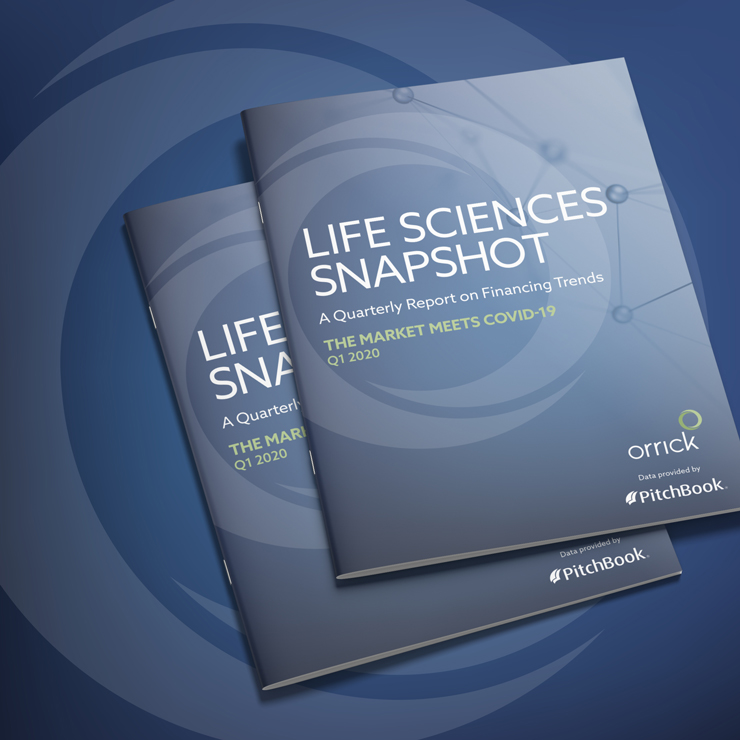 photo of two copies of Life Sciences Snapshot Q1 2020