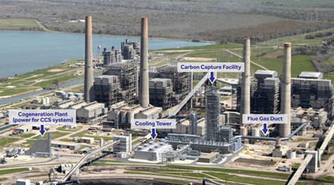 Petra Nova CO2 Capture and Sequestration Project Layout