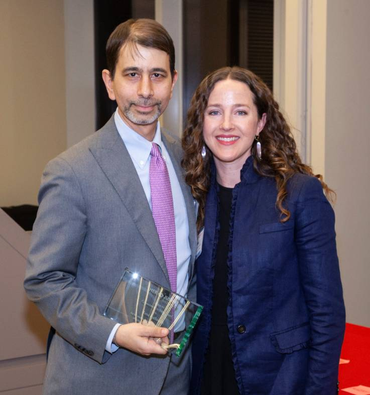 Rene Kathawala with Rachel L. Braunstein, Managing Policy Attorney at Her Justice