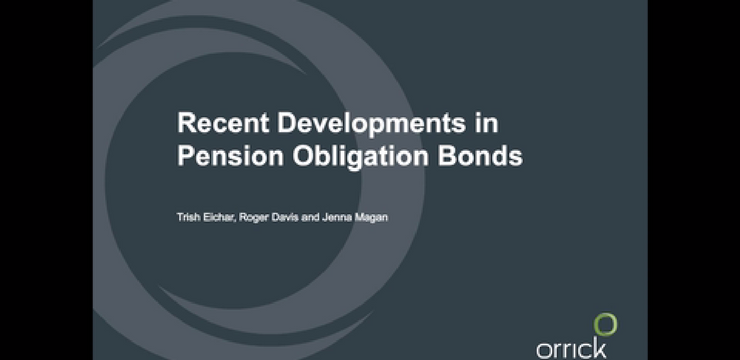 Webinar: Recent Developments in Pension Obligation Bonds