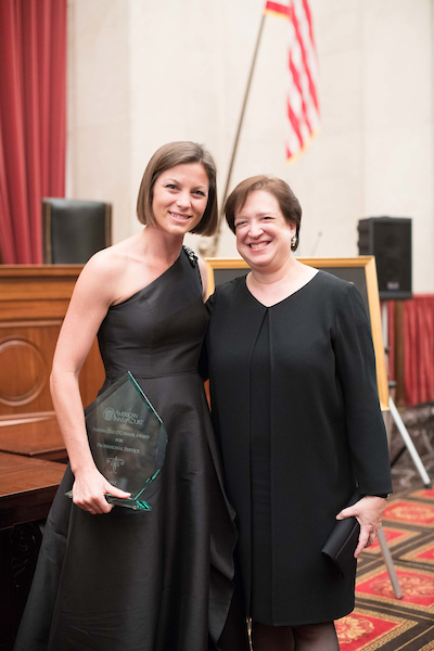 Christy Von der Ahe Rayburn and Justice Elena Kagan
