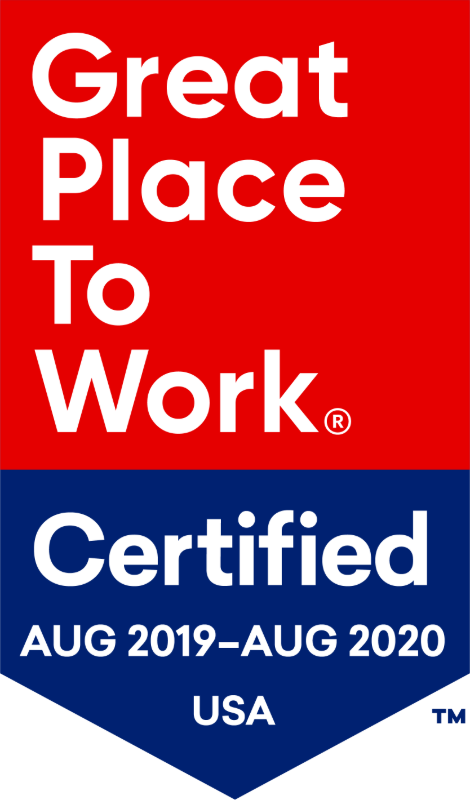 Great Place to Work Certified Aug 2019 - Aug 2020 USA