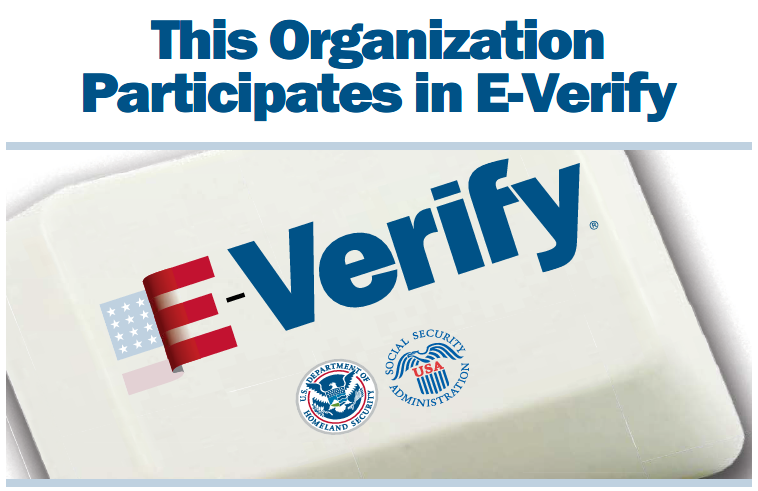 This Organization Participates in E-Verify