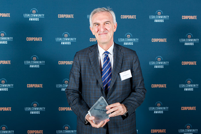 Alessandro De Nicola Named Italy's Corporate Lawyer of the Year for Second Consecutive Year